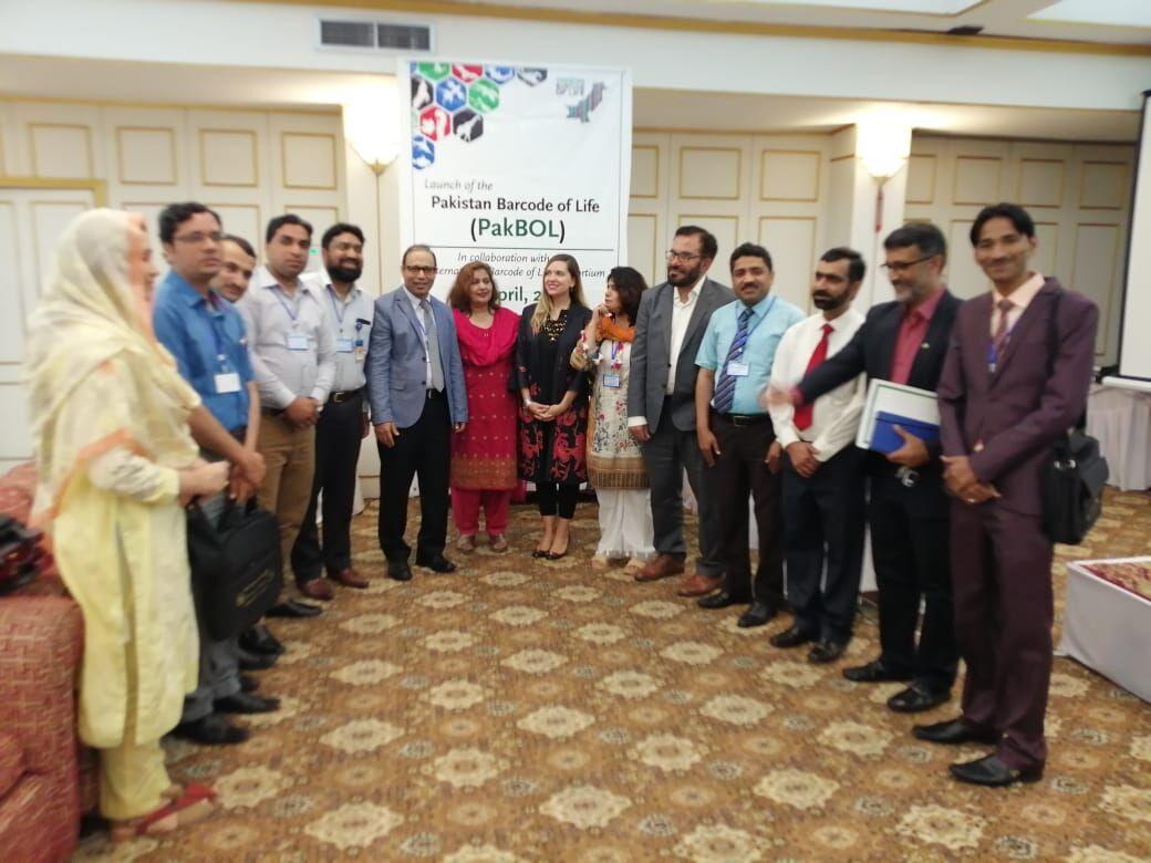 PakBOL team at the launch in Islamabad (photo courtesy of Dr. Muhammad Ashfaq)