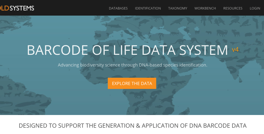 BOLD Systems Selected as One of World's Top Data Repositories