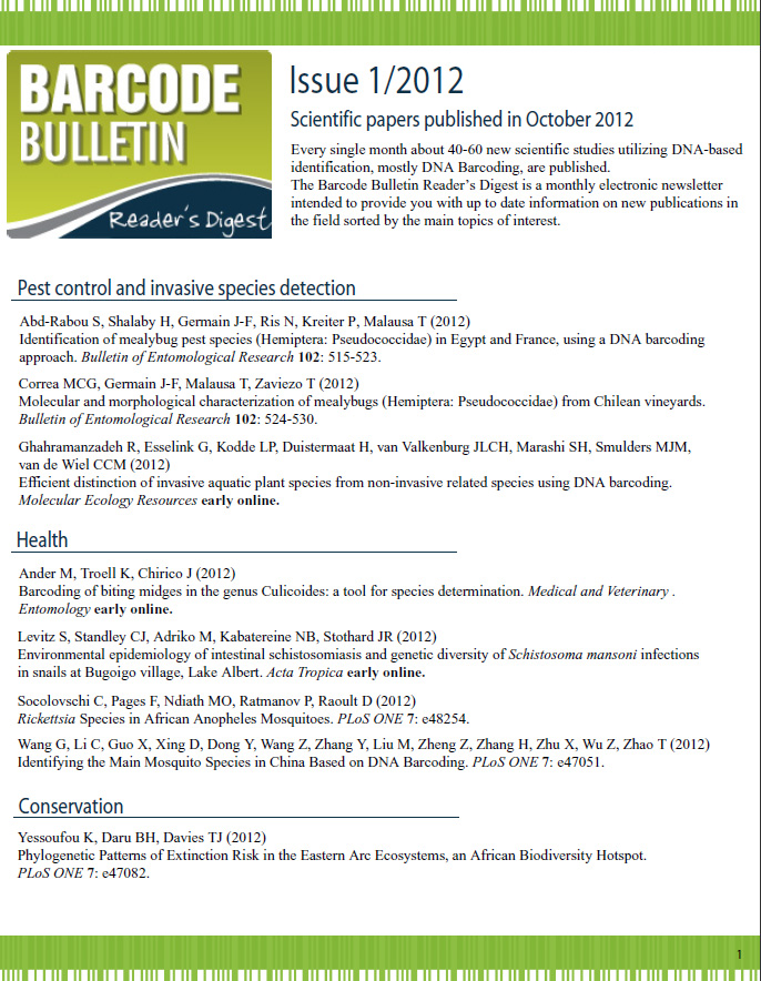 Barcode Bulletin - October 2011