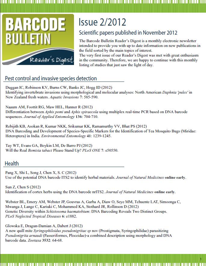 Barcode Bulletin - November 2012
