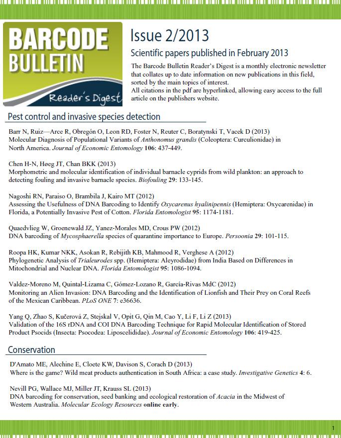 Barcode Bulletin - January 2013